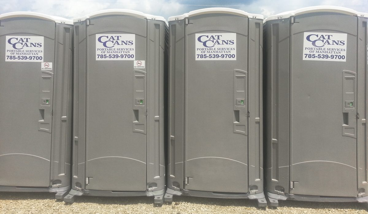 Portable Toilet Supplier in Manhattan, KS | Cat Cans Portable ...