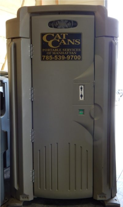 executive portable restroom outside